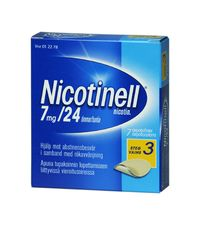 NICOTINELL 7 mg/24 h depotlaast 7 kpl