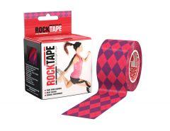 Rocktape Kinesioteippi Pink-ruutu 5cmx5m 1 rll
