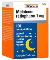 MELATONIN RATIOPHARM 1MG 100 TABL