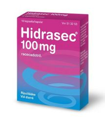 HIDRASEC 100 mg kaps, kova 10 fol